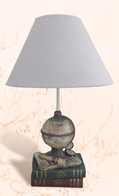 Globe & Book Table Lamp