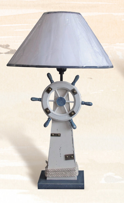 Lighthouse & Ship's Wheel Table Lamp