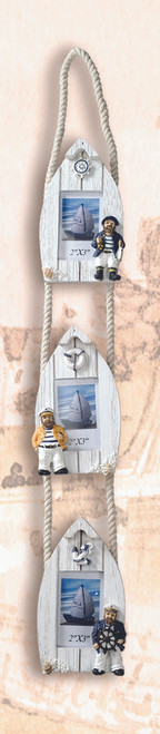 3 pc Set Beach Boat Picture Frame