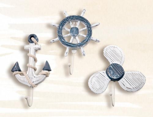 """8"""" Anchor, Ship Wheel & Propeller Hanger Set"""