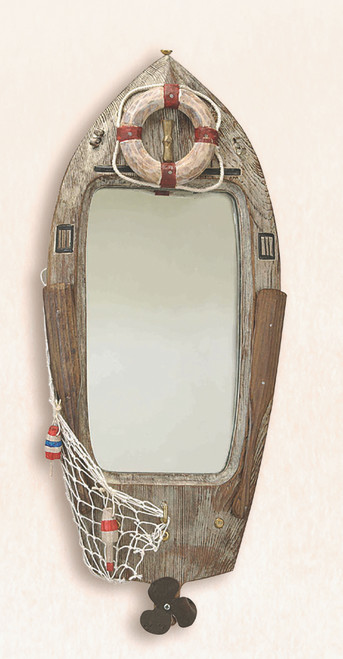 Wooden Boat Mirror