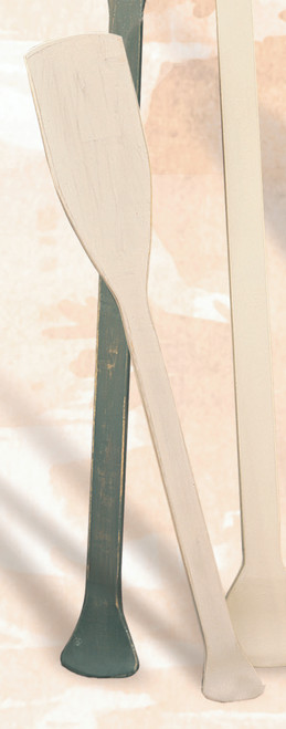 """Decorative Whitewashed Wooden Paddle - 30"""""""