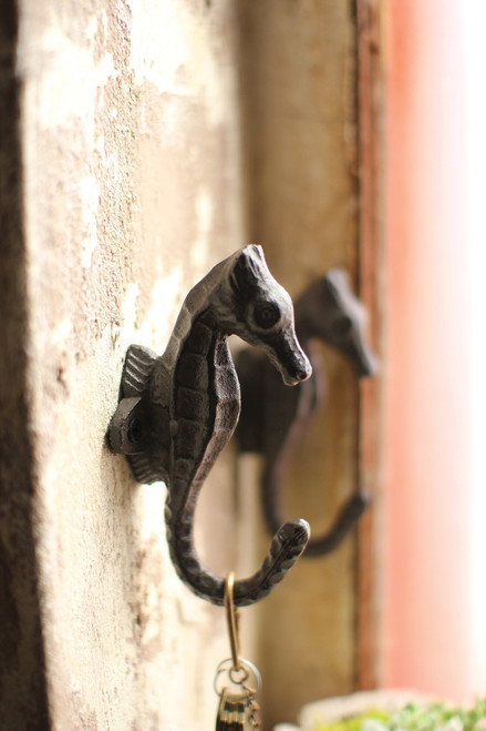 Cast Iron Seahorse Coat Hook