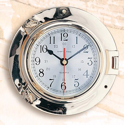 Brass Porthole Clock - 3 sizes Available