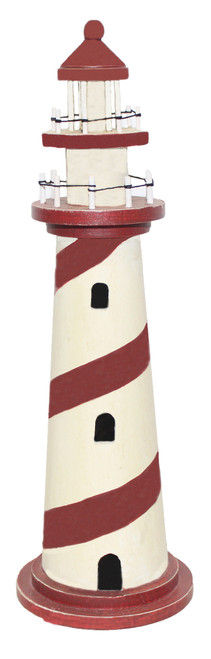 Decorative Wooden Lighthouse 24""