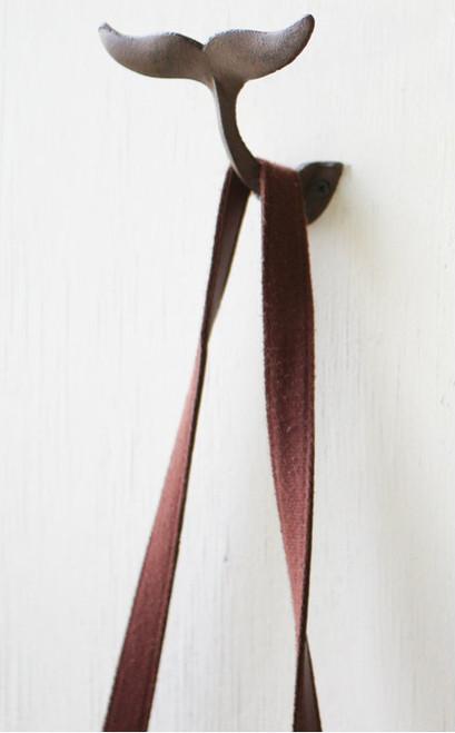 Cast Iron Whale Tail Wall Hooks - Set of 4