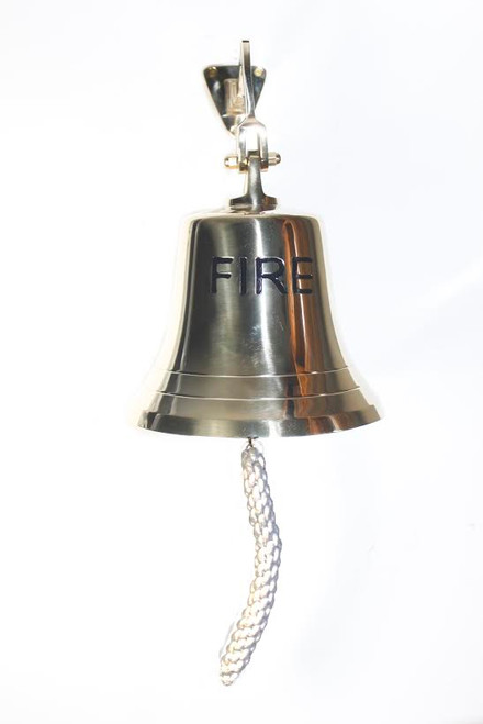 "(FB-08) 8"" Brass ""Fire"" Bell"