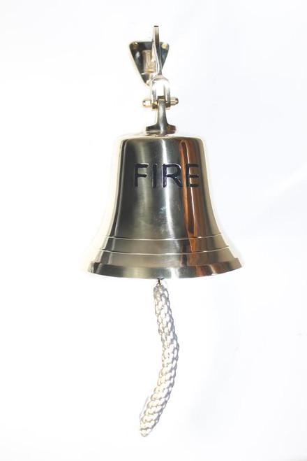 """Brass """"Fire"""" Bell 8"""""""