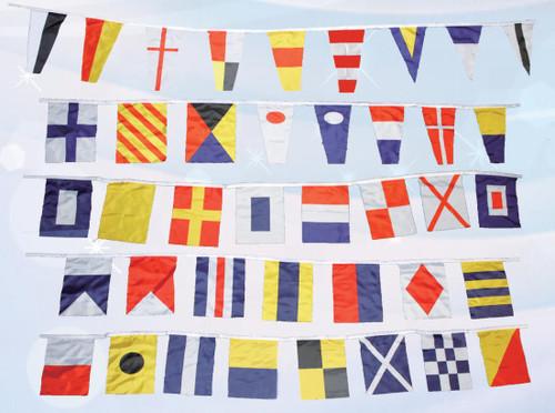 (FL-22) Nautical Flags Decor on String - Set of 40