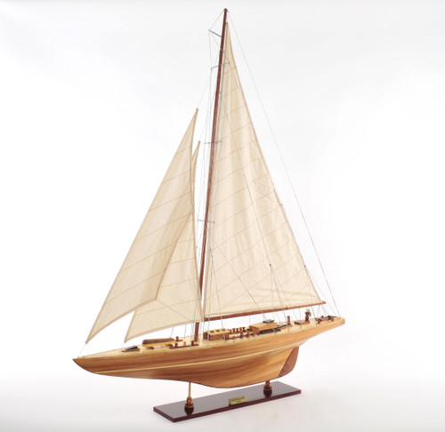 "Endeavour Model Yacht 40""  with Optional Personalized Plaque"