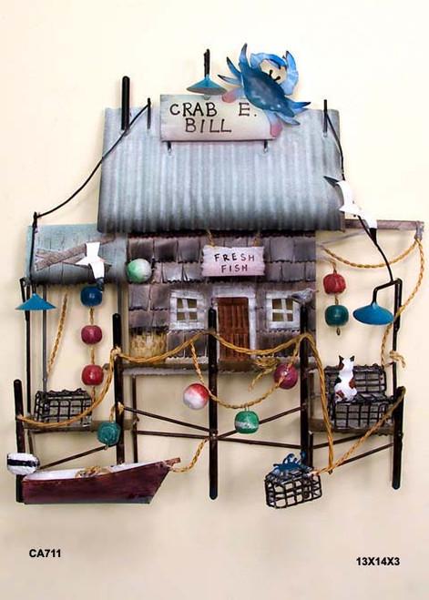 Crab E. Bill's Wall Sculpture