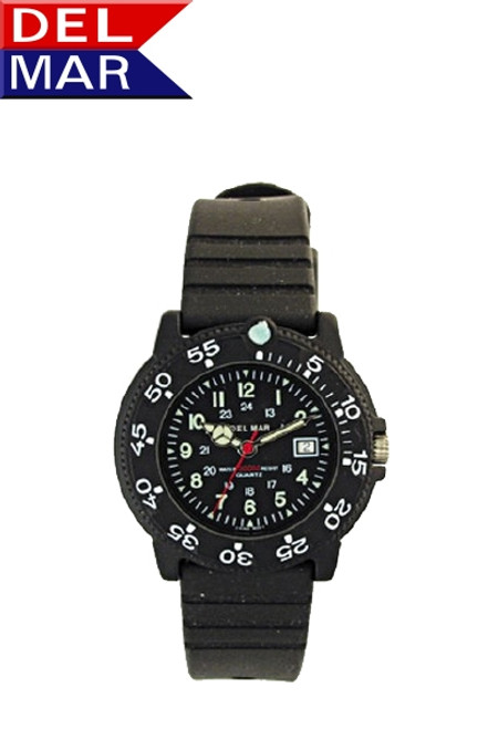 Del Mar Women's 200M Dive Watch with PU Band - Black Face