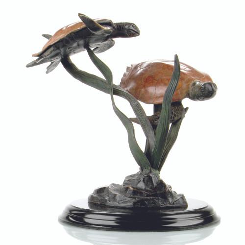 Sea Grass Tango (Double Turtle) Sculpture