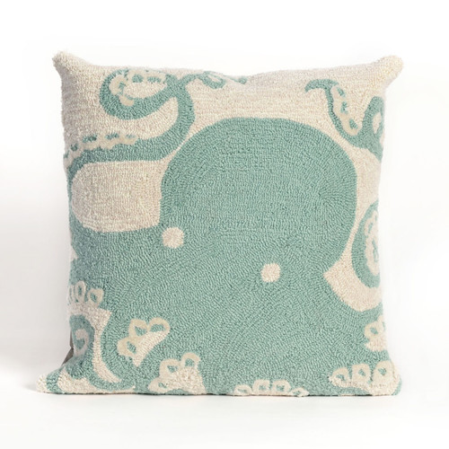 Frontporch Aqua Octopus Indoor/Outdoor Throw Pillow