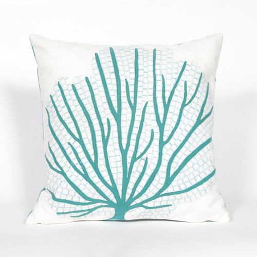 CORAL FAN AQUA PILLOW