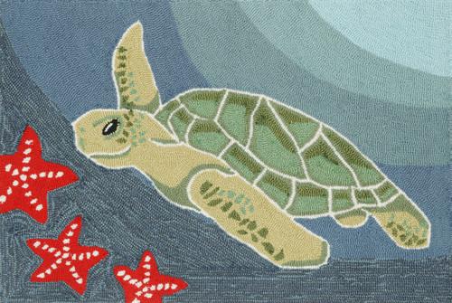 Sea Turtle Indoor/Outdoor Rug  -  Small Rectangle 2