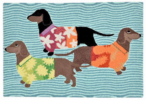 Tropical Hounds Indoor/Outdoor Rug -  Small Rectangle 2