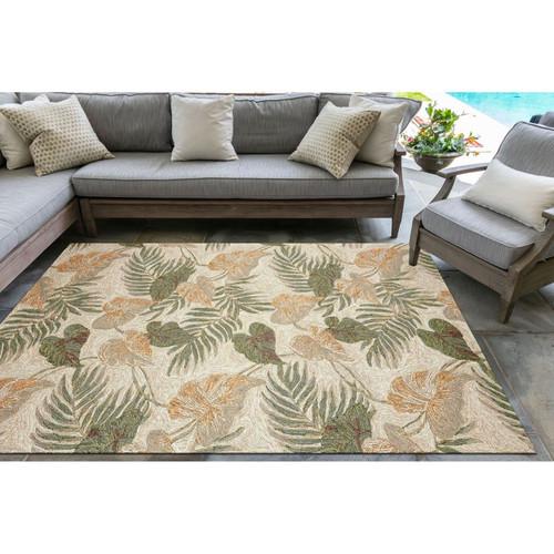 Ravella Tropical Leaf Indoor/Outdoor Rug - Large  Rectangle 1