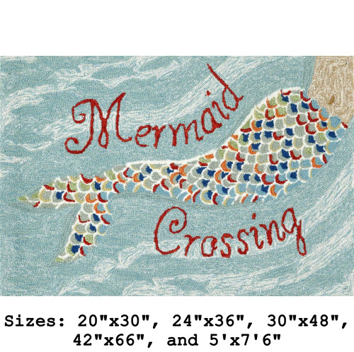 """Mermaid Crossing"" Indoor/Outdoor Rug -  Small Rectangle 1"
