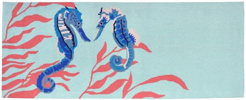 Seahorse Decor - Aqua Rug
