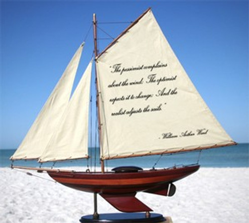 Sailboat With Quote: The Pessimist