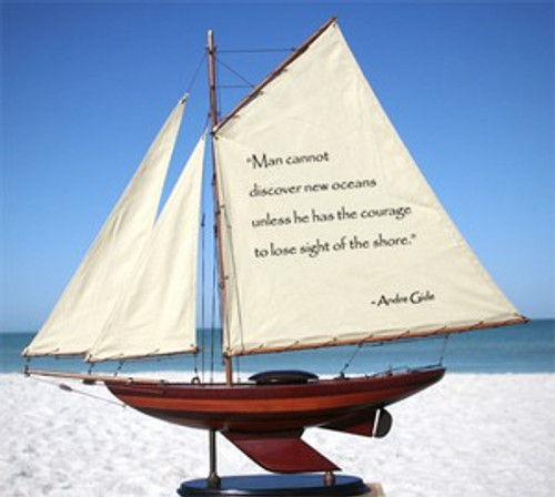 Sailboat With Quote: Man Cannot Discover