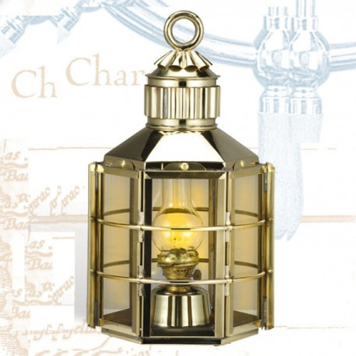 "(BL-838S) 16"" Clipper Ship Brass Oil Lantern"