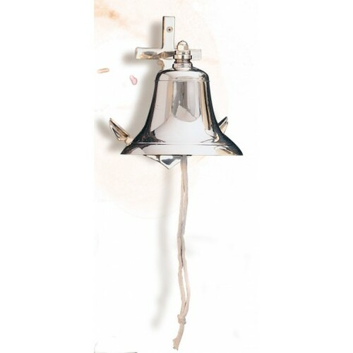 """(A6300)  Brass Anchor Ship Bell in 4 Sizes - 3"""", 4"""", 5"""" and 6"""""""