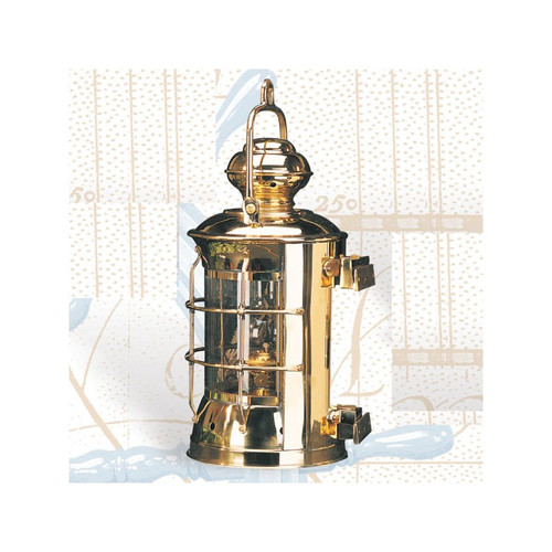 "(BL-841 Electric) 14.5"" Brass Masthead Electric Lantern"