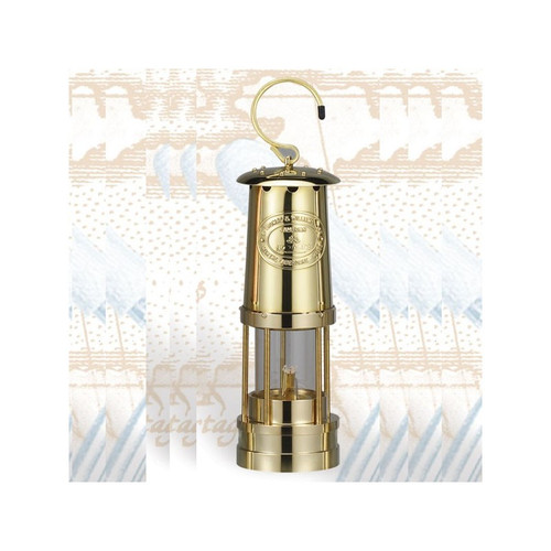 "(BL-855B) 10"" Miner's Brass Finished Oil Burning Lantern"