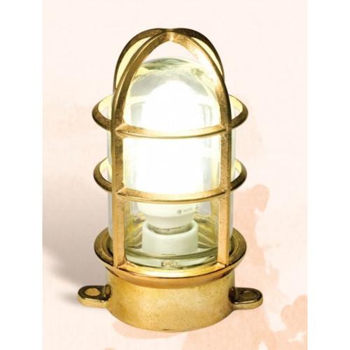 "Brass Oceanic Plug In Lamp - 7"""