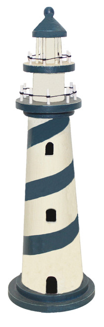 Decorative Wooden Lighthouse 35""