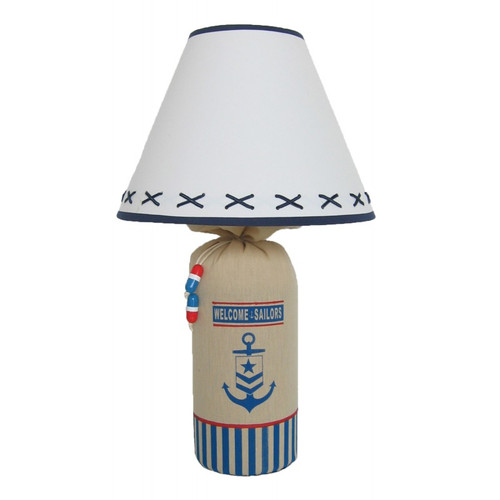 """""""Welcome Sailors"""" Lamp 19"""""""
