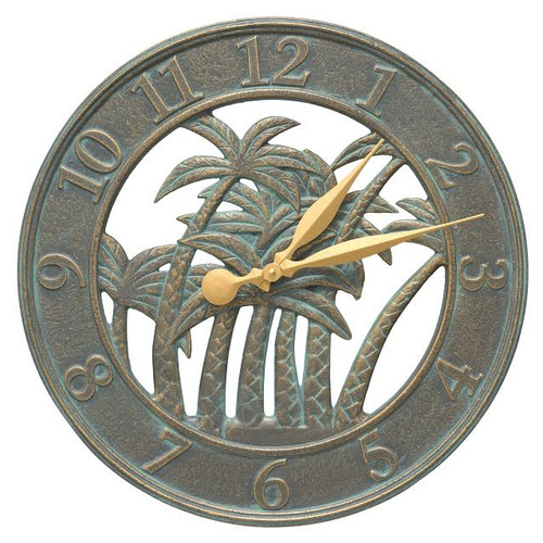 Palm Tree Silhouette Indoor/Outdoor Clock - 18""