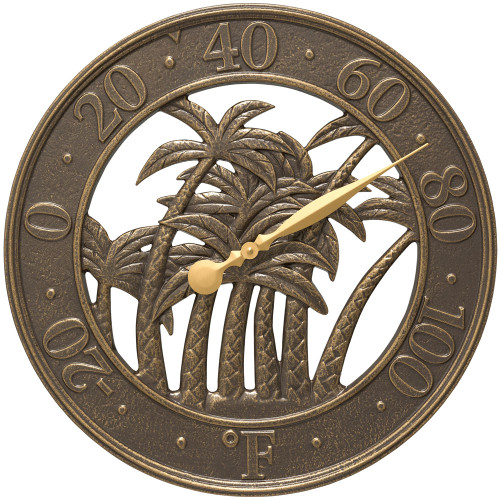 Palm Tree Silhouette Indoor/Outdoor Thermometer - 18""