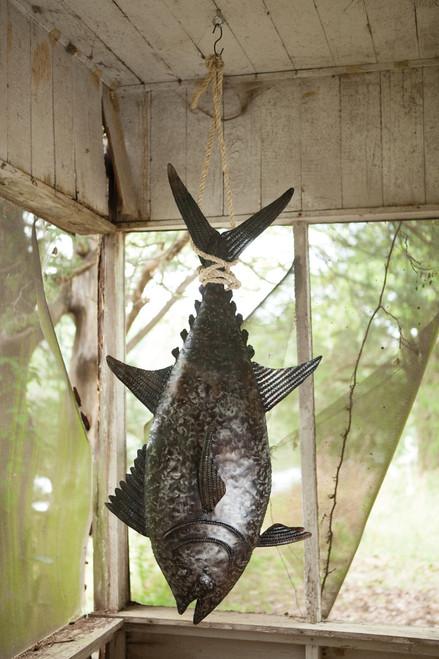 Recycled Metal Tuna with Sisal Rope