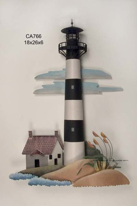 Bodie Island Lighthouse Nautical Wall Sculpture