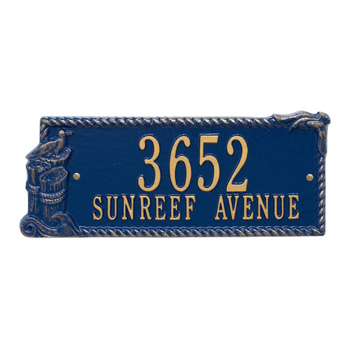 Personalized Seagull  Nautical Address Plaque - Two Lines