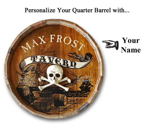 Personalized Pirate Tavern Quarter Barrel Sign - 21""