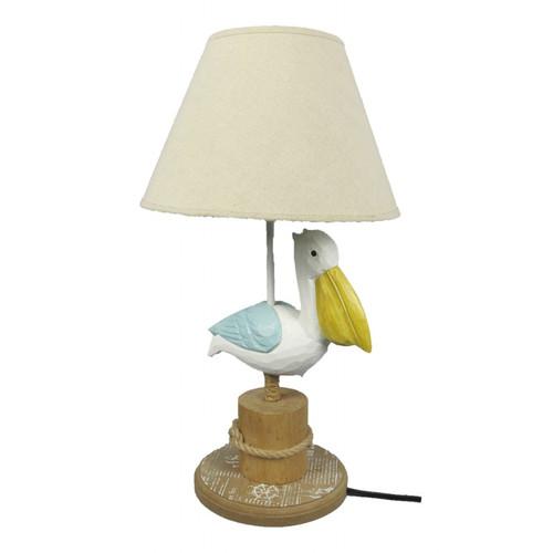 Pelican Table Lamp - Wooden