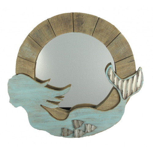 """Mermaid Mirror - Wooden -  24"""""""