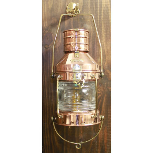 "(CL-817 14"" Elect) 14"" Copper Electric Touch Anchor Lantern"