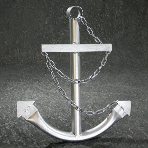 Classic Navy Anchor with Chain - Silver