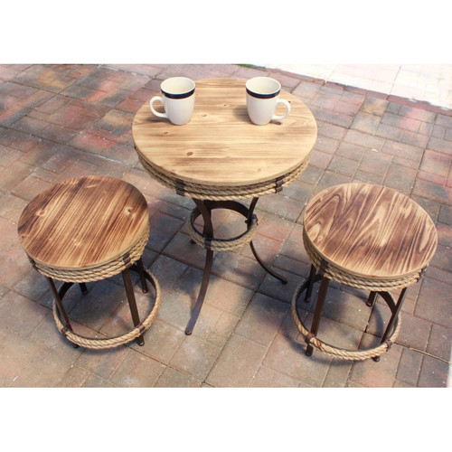 Nautical Parlor Table Stool - 19""