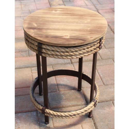 Nautical Parlor Table Stool
