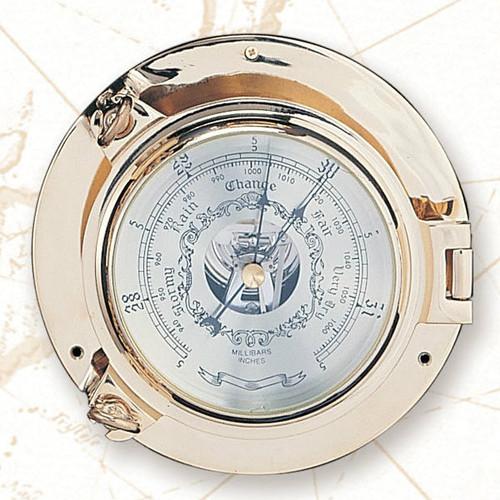"(TK-234 5.5"") 5.5"" Brass Porthole Barometer"