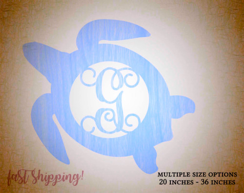 Personalized Wooden Turtle Wall Decor