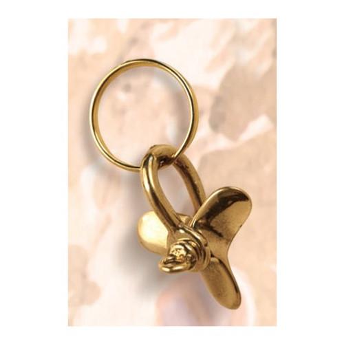 Brass Key Chain - Propeller  #1