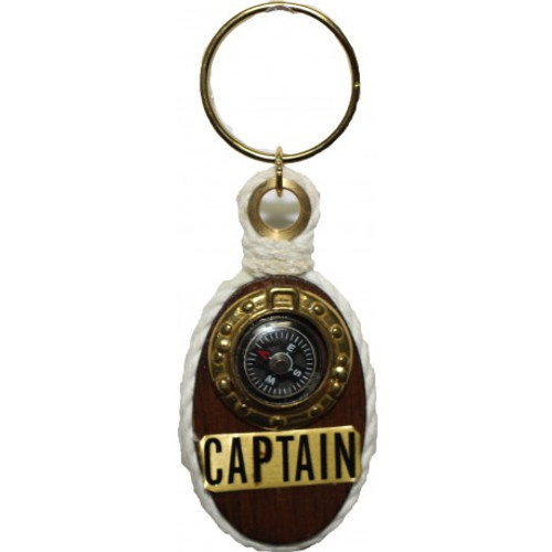 Brass Key Chain - Captain with Compass