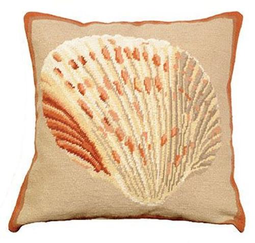 Atlantic Cockle Needlepoint Pillow